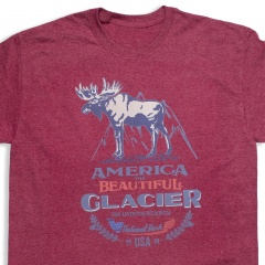 America The Beautiful<sup>®</sup> Glacier National Park Bull Moose Vintage Camp-style Unisex Graphic T-Shirt