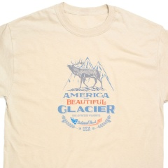 America The Beautiful<sup>®</sup> Glacier National Park Bugling Elk Vintage Camp-style Unisex Graphic T-Shirt
