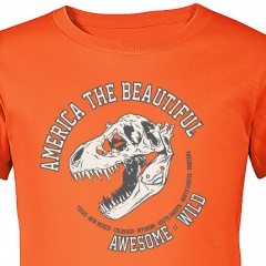 youth-t-rex-fossil-tee-shirt-orange-close-up-america-the-beautiful-shop-app91404